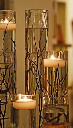 Floating candle centerpiece idea #1