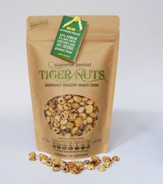 TIGER NUTS - not truly a nut: allergy free: They are free of the top  8 food allergens meaning they are gluten free (wheat), peanut free, tree nut free, dairy free, egg free, soy free and seafood/shellfish free.