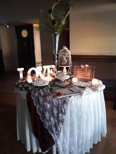 Vintage Στολισμός γάμου, τραπέζι ευχών.