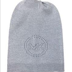 "NWT Michael Kors NWTMK beanie with ""Mk"" burnout. Black. With silver shimmer MICHAEL Michael Kors Other"