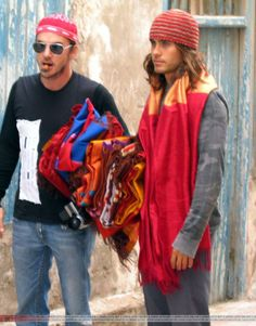Shannon and Jared Leto - Marrakech - 02 Nov 2003 (candids)