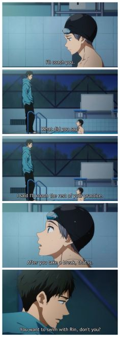 Free! ES ~~ FINALLY, a scene for these two alone! Looks like the new guy recognizes unmet needs in others. Wonder if he can say the same thing for himself? :: Sosuke and Aiichiro