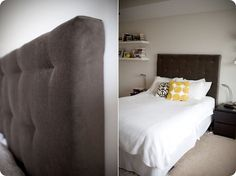 DIY Tufted Headboard... I am so determined to have Jr make this for me!!