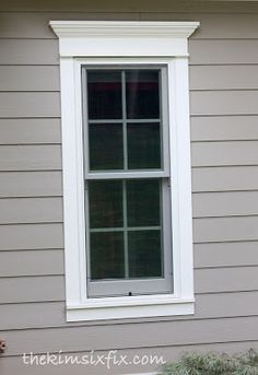 How to Use Trim to Update Exterior Doors and WIndows via www.TheKimSixFix.com  #TheKimSixFix