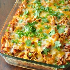 Recipe For Fiesta Enchilada Casserole - Luckily we make real food around here, and Mexican  - Yummy and healthy food - homemade always best.