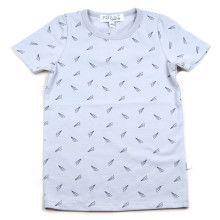 Grijze T-Shirt met paper planes