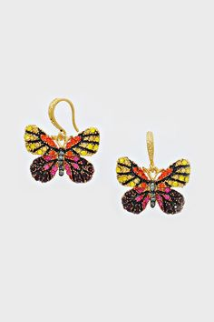 Crystal Pave Butterfly Earrings