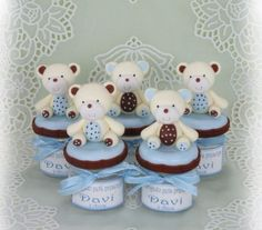 1 million+ Stunning Free Images to Use Anywhere Baby Shower Pasta, Baby Shower Parties, Baby Boy Shower, Clay Projects, Clay Crafts, Diy And Crafts, Teddy Bear Cakes, Clay Jar, Free To Use Images
