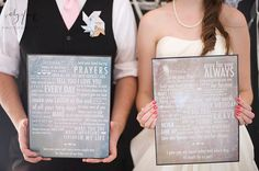 Vows turned into art. One of the cutest things i've ever seen. Hang that above the bed or somewhere you can see it everyday as a reminder of your love for one another and the promises you made.