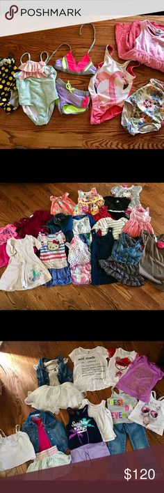 4T Girls Clothes Tons of cute 4t summer clothes and a couple extra winter items but mostly summer attire. Everything has gentle wear but everything is still in great condition. Children's place, Gap, Under Armor, Old Navy, Target, Nike, boutique brands and bathing suits! Great to get your little fashionista through the summer. Please let me know if you have any questions. name brand lot Matching Sets
