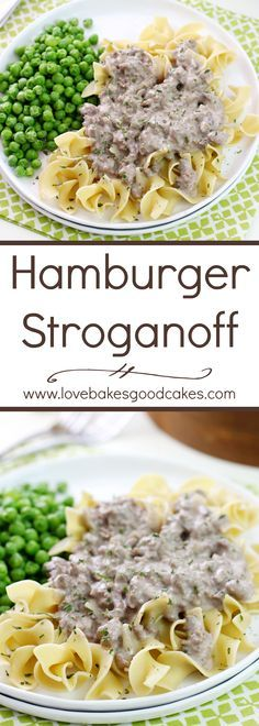 This Hamburger Stroganoff is easy on the budget and it makes the perfect weeknight meal! This Hamburger Stroganoff is easy on the budget and it makes the perfect weeknight meal! Hamburger Stroganoff, Hamburger Gravy, Hamburger Helper, Good Food, Yummy Food, Tasty, Beef Dishes, Pasta Dishes, Cheap Meals