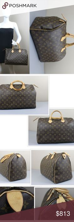 "LOUIS VUITTON LARGE MONOGRAM SPEEDY 35 100% AUTHENTIC ""SPEEDY 35"" #SD4019  From my own personal collection.  Hardly carried at all, in excellent condition! Louis Vuitton Bags"