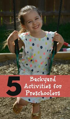 5 backyard activities for preschoolers