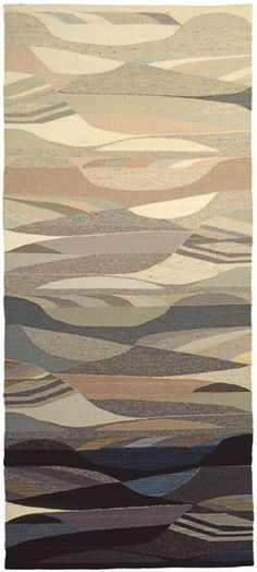 Baroque Landscape,original tapestry by Rachel Brown,1997. Hand-dyed wool. 71″ x 31″