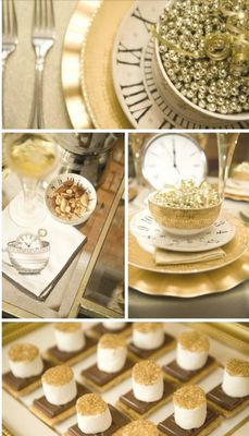 love the clock plates... perfect for a new years party