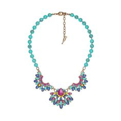 Positano Statement Necklace | Chloe + Isabel ($98) via Polyvore featuring jewelry, necklaces, flower jewelry, flower necklace, statement necklace, chloe isabel jewelry and bib statement necklace