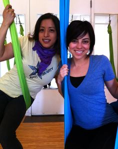 Krysta Rodriguez practicing on silks for Reach For Me on Smash