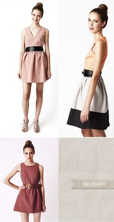 dress with belt = cool