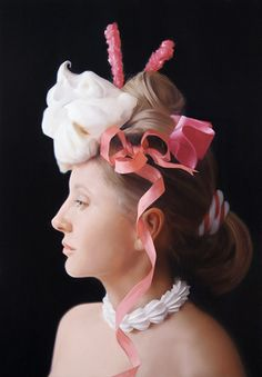 WILL COTTON // Marie Chantal, 2006, oil on linen, 34 x 24 inches