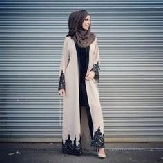 Guess what guysss The Amal Abaya has been restocked in Cream! wwwaaliyacollect… Model: Liselotte Janssensm Make up: Photography: Wanderlust Capturedimagery - Hijab Arab Fashion, Islamic Fashion, Muslim Fashion, Modest Fashion, Fashion Outfits, Modest Wear, Modest Outfits, Trendy Outfits, Hijab Outfit
