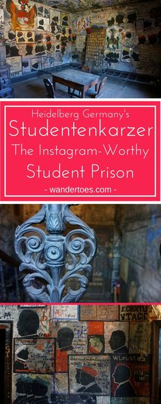 Heidelberg, Germany: See the endlessly instagrammable Studentenkarzer, Heidelberg's student prison, in use from the 14th century until WWI and perfectly preserved for our eyes! | Studentenkarzer | Heidelberg Student Prison | Student Prison | Studentenkarzer Heidelberg