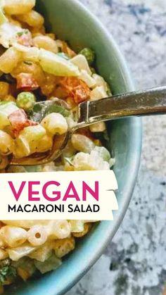 Dairy Free Recipes Easy, Delicious Vegan Recipes, Veggie Recipes, Vegetarian Recipes, Cooking Recipes, Healthy Recipes, Gluten Free, Dairy Free Pasta Salad Recipe, Vegan Pasta