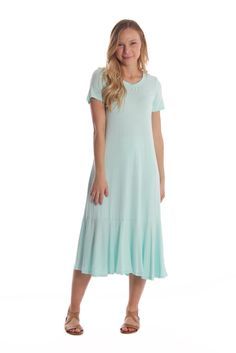 Can't Stop Staring Ruffle Dress- Mint