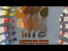 Michael Harding Paints, Comparing Browns demonstrated by Vicki Norman - YouTube Oil Painting Lessons, Oil Painting Techniques, Watercolor Paintings Abstract, Learn To Paint, Artist Art, Art Oil, Art Tutorials, Art Lessons, Palette