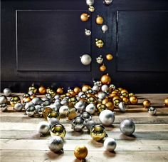 10 IKEA Holiday Decorating Ideas Worth Stealing: Pair Contrasting Surfaces: Gold and matte black are total opposites, but when combined make for a nice balance of shiny and grounded. #apartmenttherapy #holidaysyouandme