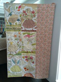 Reversible Girls are Powerful Lap Quilt by NeedlewomanDesigns, $149.00