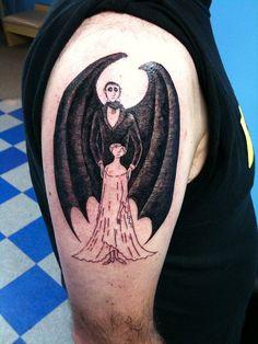 Edward Gorey tattoo.