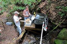 David Manning, a Univ. of Georgia doctoral student, and John Kominoski, a former UGA postdoctoral researcher who is now an assistant professor at Florida International Univ., perform maintenance on the pump used to add nutrients to one of the streams in their experiment. Image: Jon Benstead, Univ. of Alabamahttp://www.laboratoryequipment.com/news/2015/03/stream-pollution-killing-aquatic-life?et_cid=4448280&et_rid=650445760&location=top