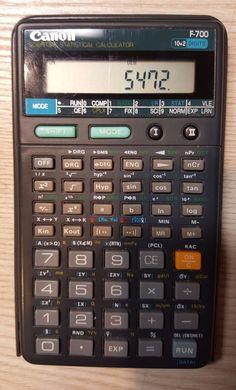 Canon F-700 Scientific Statistical Calculator D.C 3.0V 1.80mW G058