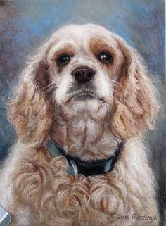 Personnalisé animal portrait pastel 5 « x 7 »