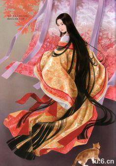 Heian lady. Genji's 'third princess', perhaps?