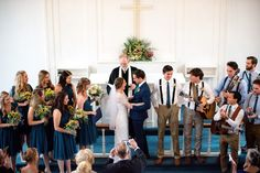 Ingrid Heres Photography   The Wedding Party Teal, Gold, Yellow, White palette  Flowers: Sunflowers, baby's breath, eucalyptus, and white roses
