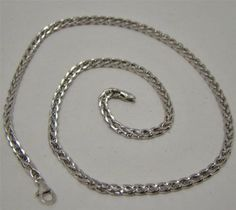 925-SOLID-STERLING-SILVER-ITALY-16-WHEAT-CHAIN-NECKLACE-2-7mm-MADE-IN-ITALY-10g