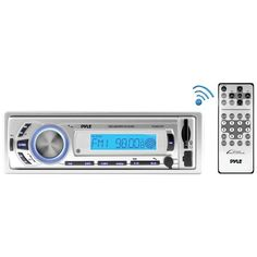 Pyle Pro Plmr21Bt Marine Single-Din In-Dash Mechless Marine Am/Fm Receiver With Bluetooth(R)
