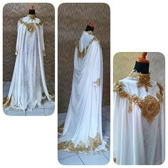 ceremonial dresses...with gold flower front