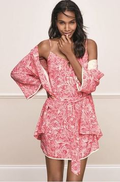 Pair matching chemise with a lightweight dressing gown for the ultimate chic look.
