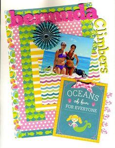 beach vacation scrapbooking layout