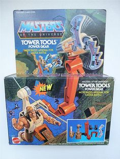 Tower Tools He Man Thundercats, He Man Figures, 80 Toys, She Ra Princess Of Power, Retro Toys, Box Art, Cool Toys, Childhood Memories, Action Figures
