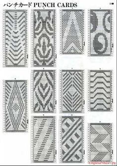 This Pin was discovered by Ele Tapestry Crochet Patterns, Crochet Stitches Patterns, Beading Patterns, Knitting Patterns, Inkle Weaving, Inkle Loom, Crochet Cross, Filet Crochet, Knitting Charts