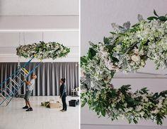 Love a floral chandelier! Hanging Centerpiece, Centrepieces, Floral Chandelier, Something Blue, Beautiful Flowers, Wedding Reception, Dream Wedding, Stylists, Bouquet