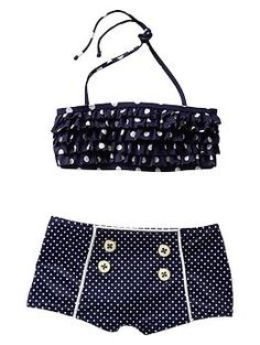 Polka dot two-piece | Gap Kids...too cute! going to look for this!