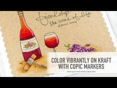 Copics on Kraft: Wine with Purple Onion Designs - YouTube