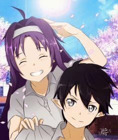 This is just amazing art! - Not my art by the way. Sword Art Online Yuuki, Tous Les Anime, Kirito Asuna, Beautiful Drawings, Marvel Cinematic Universe, Night Skies, Manga Art, Anime Couples, People