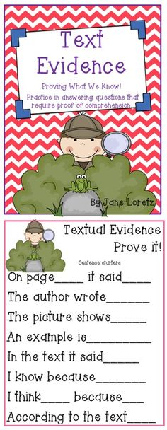 Justifying your answer - Text evidence pack! I just like the poster with phrases to help students respond with the evidence - Reading Lessons, Reading Strategies, Reading Activities, Reading Skills, Reading Comprehension, Comprehension Strategies, Reading Groups, Teaching Language Arts, Teaching Writing