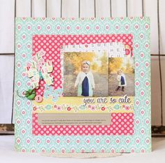 You Are So Cute Layout from Sweet Girl Collection. #echoparkpaper