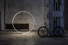 Timo Niskanen Designs Giant Looping LED Light for Himmee at Stockholm Furniture Fair 2017 Industrial Style Lighting, Modern Industrial, Helsinki, Lamp Design, E Design, Led, Loop Lighting, Nordic Lights, Interior Design Inspiration